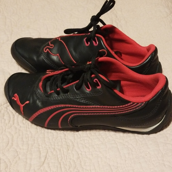 Puma Shoes | Red And Black Sneakers